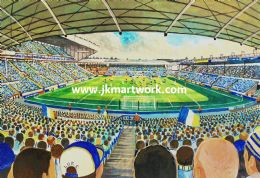 Hand Painted original of ELLAND ROAD